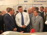 The Prime Minister of Ukraine Victor Janukovich, visiting exposition of the State Aviation Concern